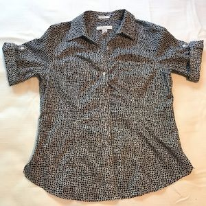 Chico's Womens Button Up Top Size 1 NWOT